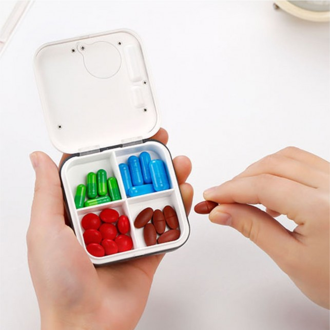 Pill Box Reminder Timer with 5 Daily Alarms