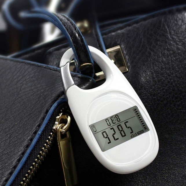 3D Carabiner Pedometer with Goal Tracker