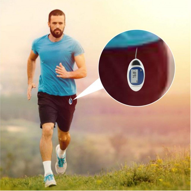 """""""Cardio"""" 3D Pedometer with Pulse Reader"""